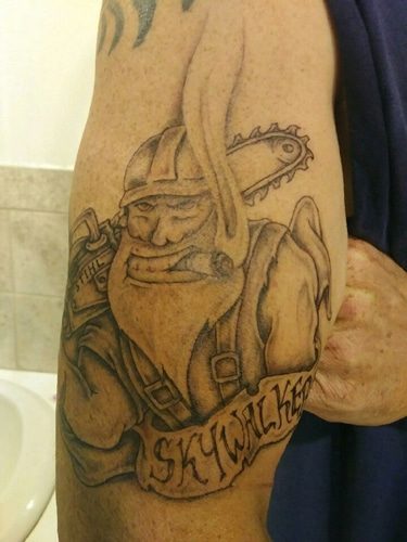 Chompers Tree Service Tattoo