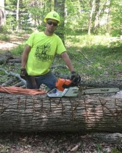 Knocking Out Wood with Chompers Tree Service in Mansfield OH